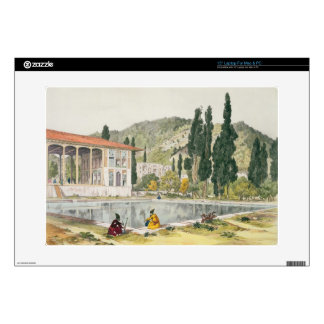"""The Palace and Gardens of Ashref, Persia, plate 80 Decal For 15"""" Laptop"""