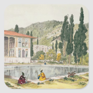 The Palace and Gardens of Ashref, Persia, plate 80 Sticker