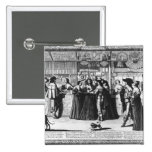 The Palace Gallery, engraved by Le Blond 2 Inch Square Button