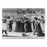 The Palace Gallery, engraved by Le Blond Greeting Card