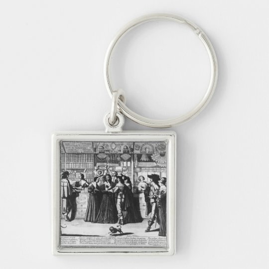 The Palace Gallery, engraved by Le Blond Keychain