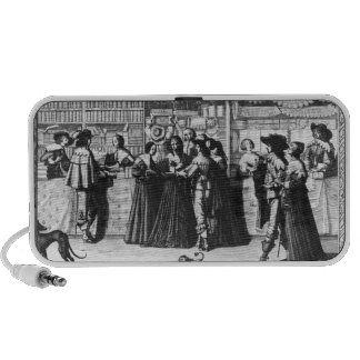 The Palace Gallery, engraved by Le Blond iPhone Speaker