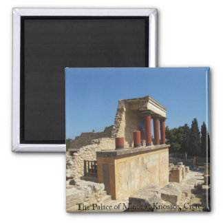 The Palace of Minos at Knossos, Crete,  GREECE 2 Inch Square Magnet