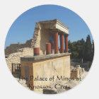 The Palace of Minos at Knossos, Crete,  GREECE Classic Round Sticker