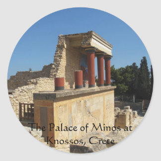 The Palace of Minos at Knossos, Crete,  GREECE Classic Round Sticker