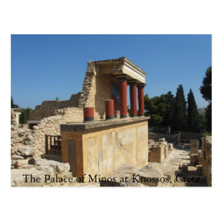 The Palace of Minos at Knossos, Crete,  GREECE Postcard