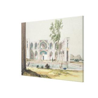The Palace of Tchar-Bag at Isfahan, Persia, plate Canvas Print