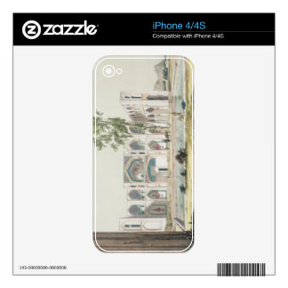 The Palace of Tchar-Bag at Isfahan, Persia, plate Decals For iPhone 4