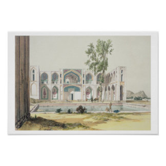 The Palace of Tchar-Bag at Isfahan, Persia, plate Poster