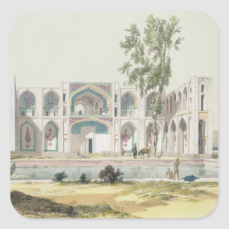The Palace of Tchar-Bag at Isfahan, Persia, plate Square Sticker
