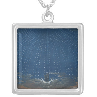 The Palace of the Queen of the Night Silver Plated Necklace