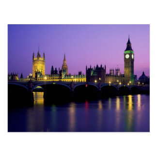 The Palace of Westminster and Big Ben Postcard