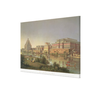 The Palaces of Nimrud Restored, a reconstruction o Stretched Canvas Prints