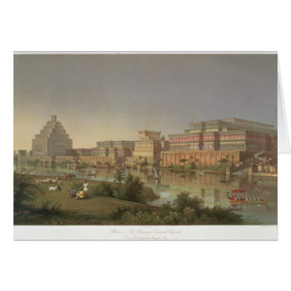 The Palaces of Nimrud Restored, a reconstruction o Greeting Card