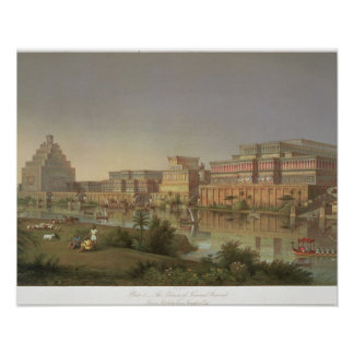 The Palaces of Nimrud Restored, a reconstruction o Print
