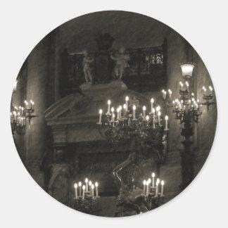 The Palais Garnier Paris France Classic Round Sticker