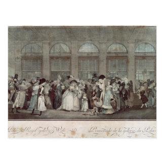 The Palais Royal Gallery's Walk, 1787 Postcard