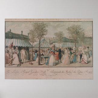 The Palais Royal Garden Walk, 1787 Poster