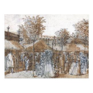 The Palais Royal Garden Walk in 1787 Postcard
