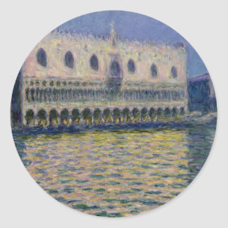 The Palazzo Ducale by Claude Monet Classic Round Sticker