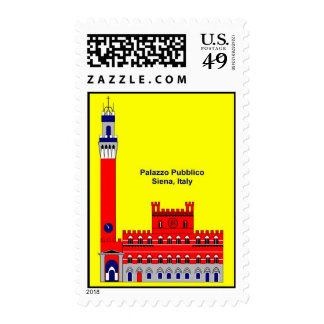 The Palazzo Pubblico Inspiration - Siena, Italy Postage Stamps