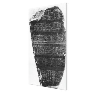 The Palermo stone Stretched Canvas Print