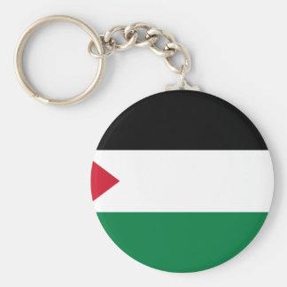 The Palestinian flag (علم فلسطين) Basic Round Button Keychain