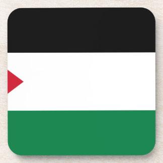 The Palestinian flag (علم فلسطين) Beverage Coaster
