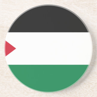 The Palestinian flag (علم فلسطين) Drink Coaster