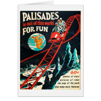 The Palisades vintage poster Card