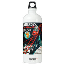 The Palisades vintage poster Water Bottle