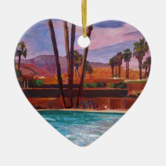 The Palm Springs Pool Ceramic Ornament