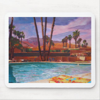 The Palm Springs Pool Mouse Pad