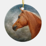 The Palomino Double-Sided Ceramic Round Christmas Ornament