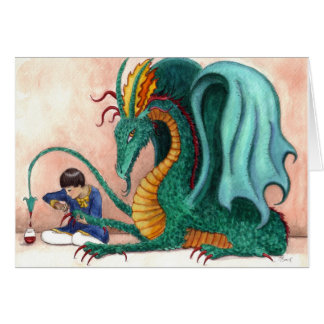 The Pampered Dragon Greeting Cards
