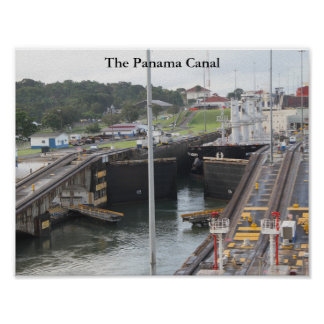 The Panama Canal, High Def Photography Poster