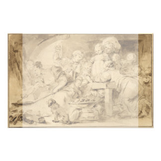 "The Pancake Maker by Jean-Honore Fragonard 5.5"" X 8.5"" Flyer"