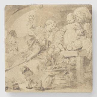 The Pancake Maker by Jean-Honore Fragonard Stone Beverage Coaster