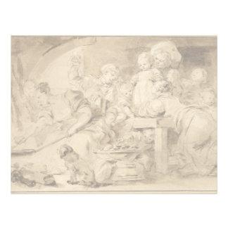 The Pancake Maker by Jean-Honore Fragonard Letterhead