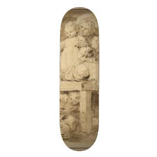 The Pancake Maker by Jean-Honore Fragonard Skateboard