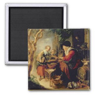 The Pancake Seller, 1650-55 (oil on panel) Magnet