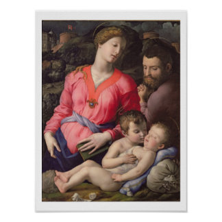 The Panciatichi Holy Family, c.1530-32 (oil on pan Poster