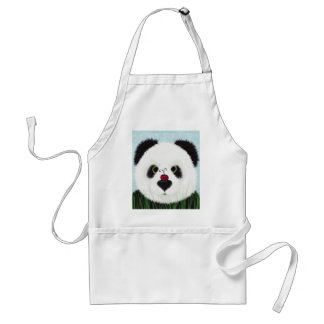 The Panda And His Visitor Adult Apron