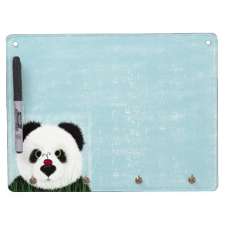 The Panda And His Visitor Dry Erase Board
