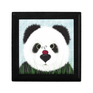 The Panda And His Visitor Jewelry Box