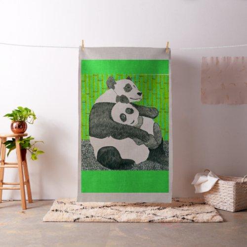 The Panda Bear Fabric By Julia Hanna