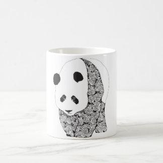 The Panda With The Roses Classic White Coffee Mug