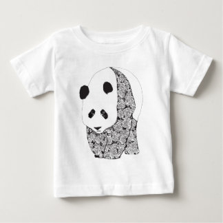 The Panda With The Roses Tee Shirt