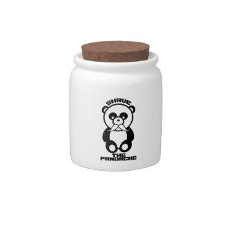 The Pandache (Panda mustache) candy jars