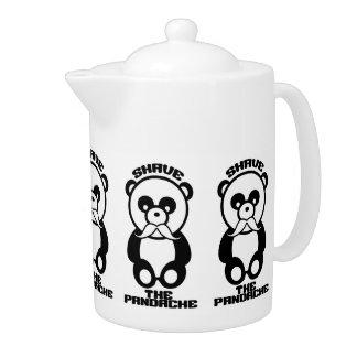 The Pandache Panda mustache teapot